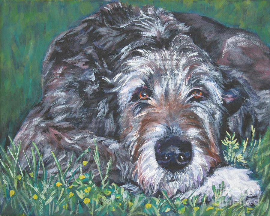 Irish Wolfhound Painting - Irish Wolfhound by Lee Ann Shepard