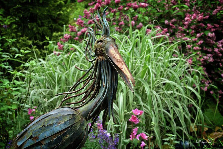 Garden Photograph - Iron Bird by Bill Linn
