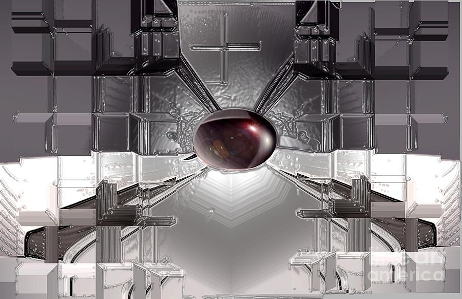 Iron Digital Art - Iron Boll by Aline Pottier  Gama Duarte