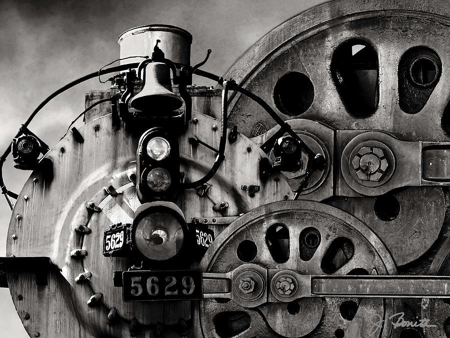 Steam Engine Photograph - Iron Circles No. 1 by Joe Bonita