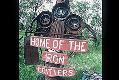 Images Photograph - Iron Critter by The Signs of the times Collection