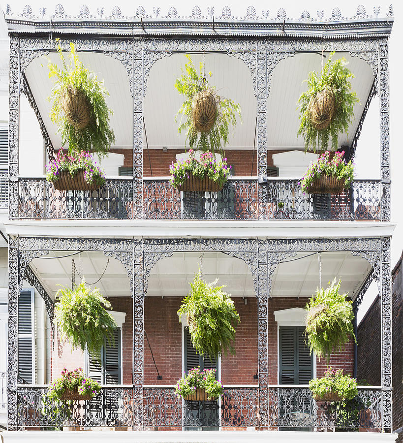 Iron Filigree Balconies at 1217 Royal Street by Gregory Scott