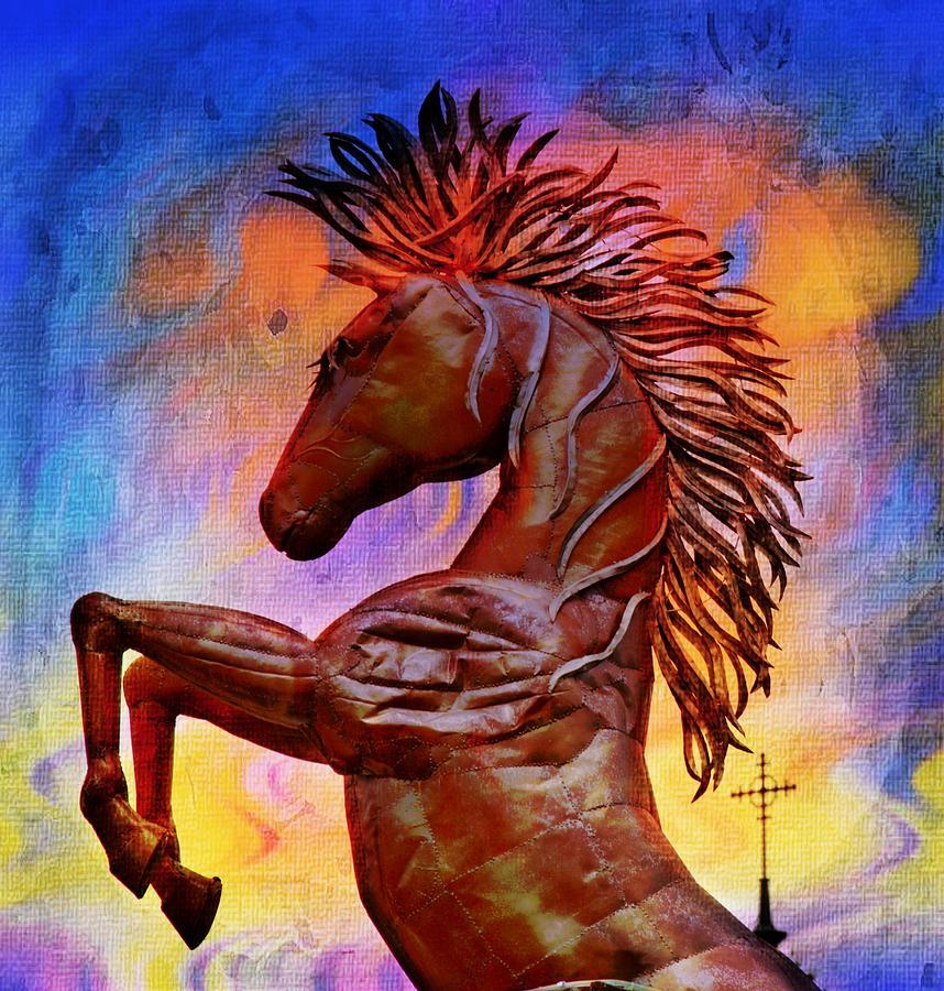 Horse Photograph - Iron Horse by Alice Gipson