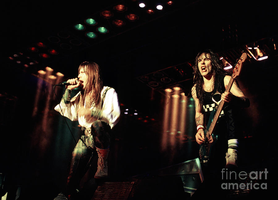 Iron Maiden Photograph - Iron Maiden 1987 Bruce And Steve by Chris Walter
