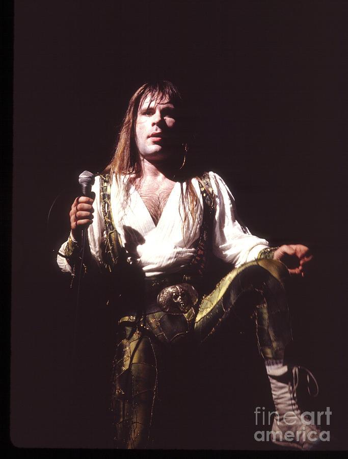 Iron Maiden Photograph - Iron Maiden 1987 Bruce Dickinson by Chris Walter