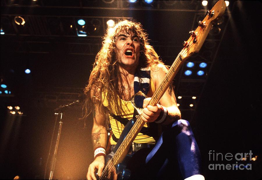 Iron Maiden Photograph - Iron Maiden 1987 Steve Harris by Chris Walter
