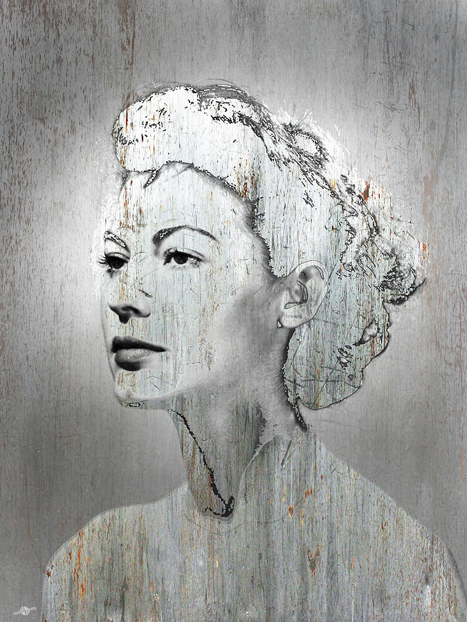 Eva Gardner Mixed Media - Silver Screen Eva Gardner by Tony Rubino