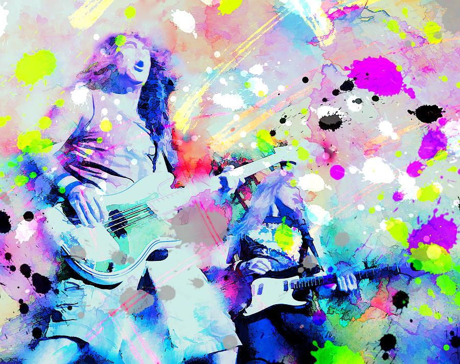 Iron Maiden Painting - Iron Maiden On Stage by Rosalina Atanasova