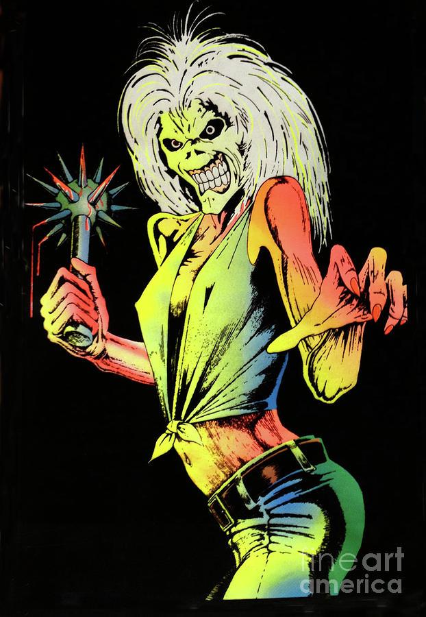 Poster Digital Art - Iron Maiden by Steven Parker