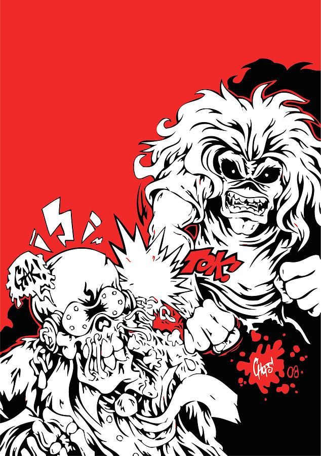 Iron Maiden Vs Megadeth Digital Art By Geek N Rock