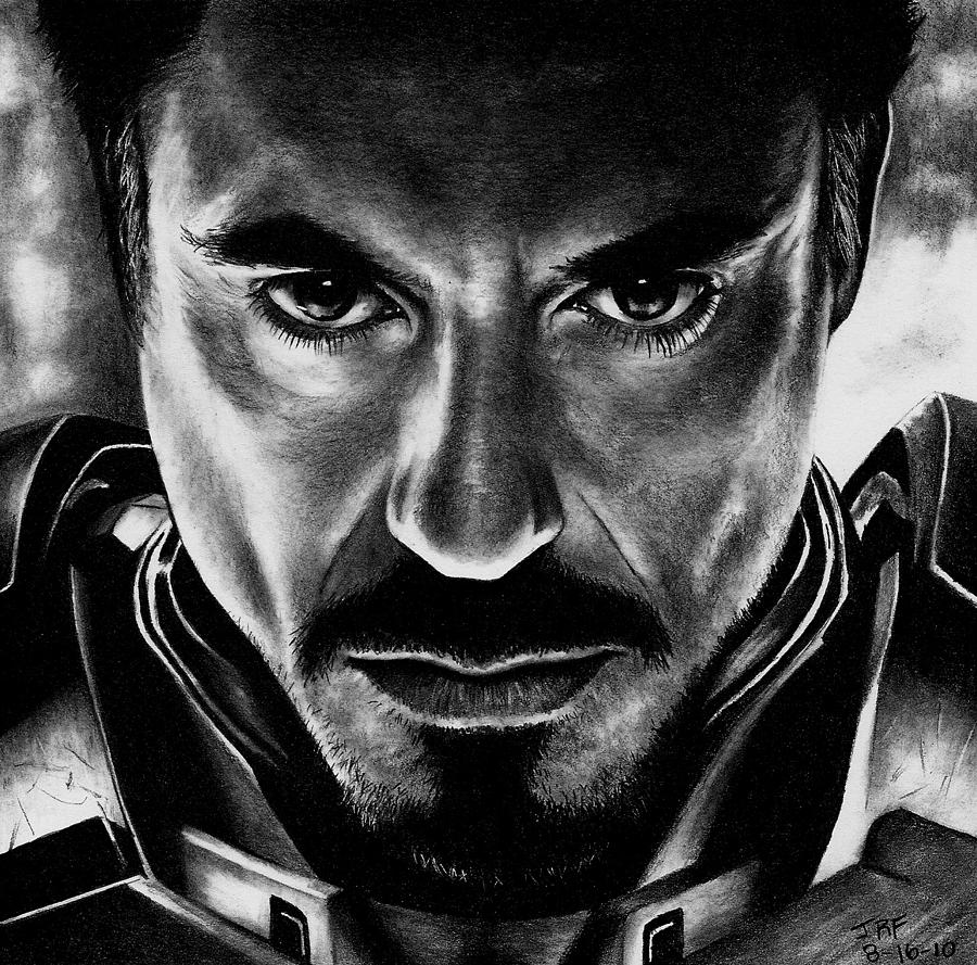 Iron Man Drawing - Iron Man by Rick Fortson