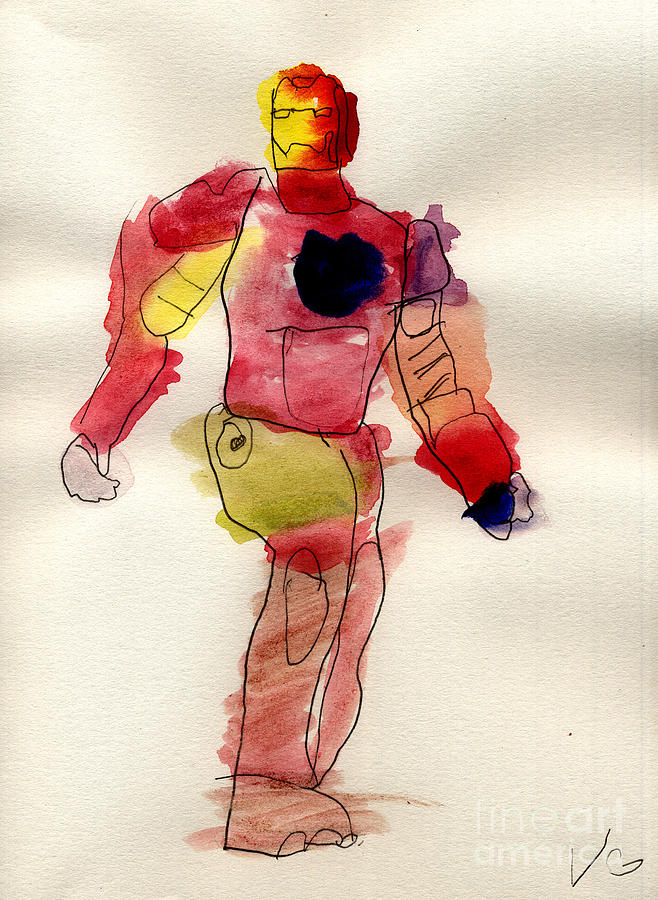Iron Man Painting - Iron Man by Vincent Gitto