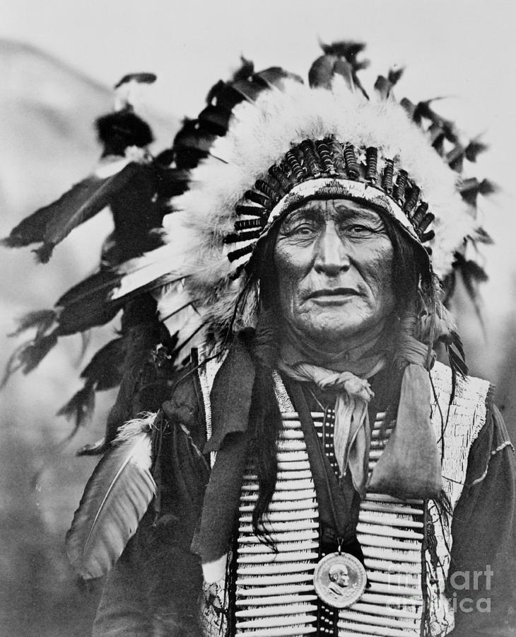 Lakota Photograph - Iron Shell by American School