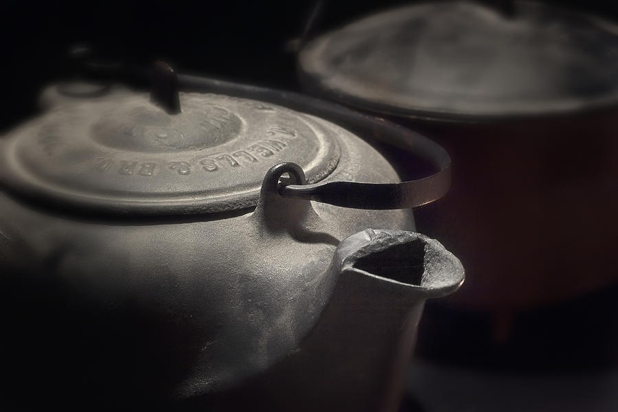 Kettle Photograph - Iron by Tom Mc Nemar