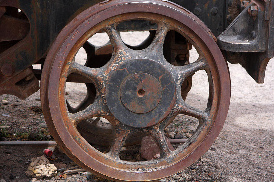 Iron Train Wheel Photograph