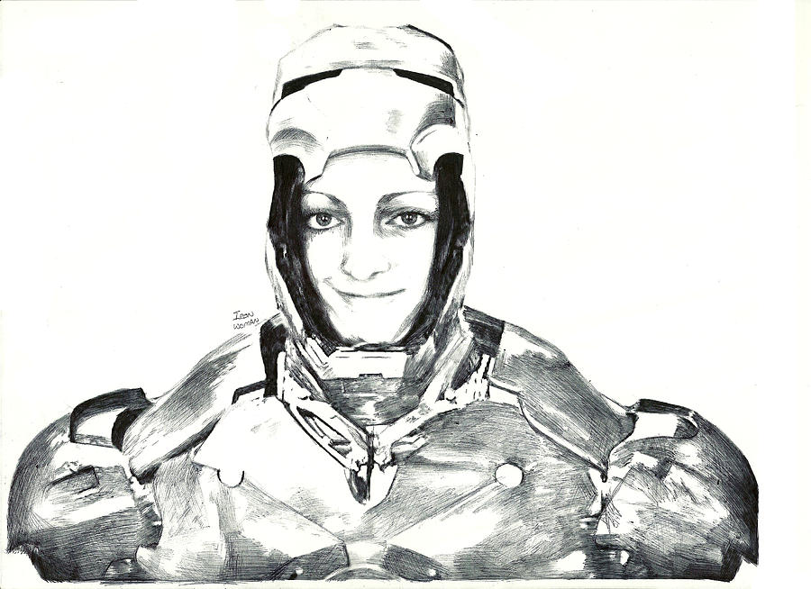 Iron Drawing - Iron Woman by Benjamin McDaniel