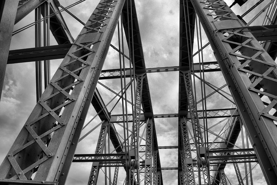 Cincinnati Skyline Photograph - Iron Work by Russell Todd