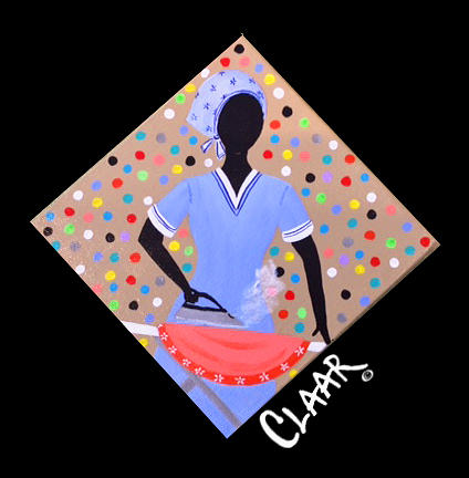 Gullah Painting - Ironing Day I  by Samantha Claar