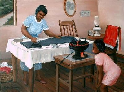 Ironing Day Painting by Romeo Downer