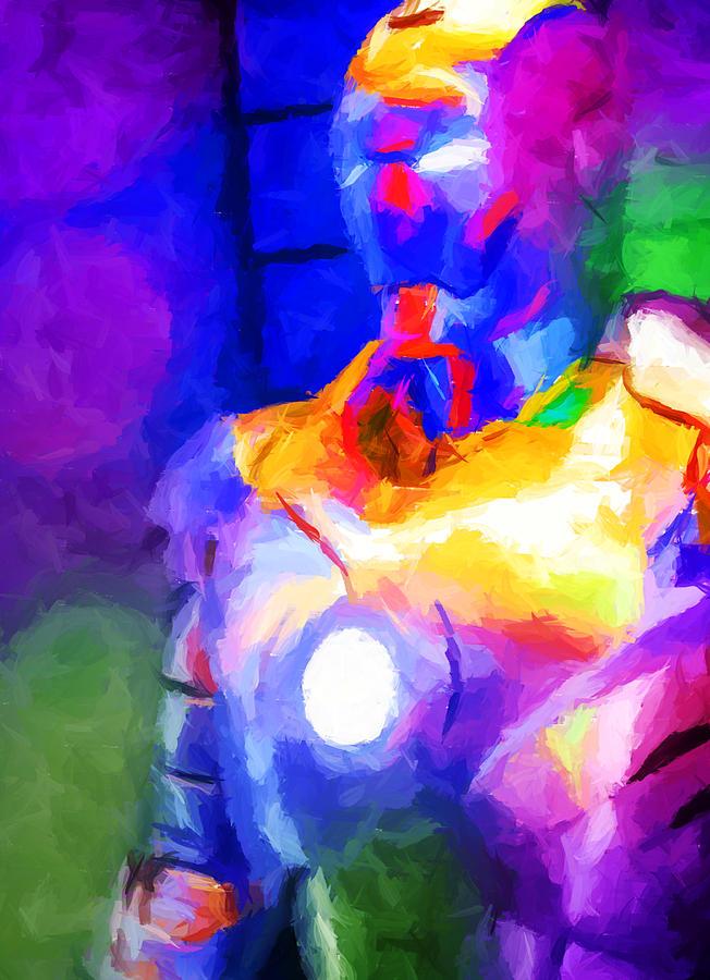 Ironman Abstract Digital Paint 4 Digital Art