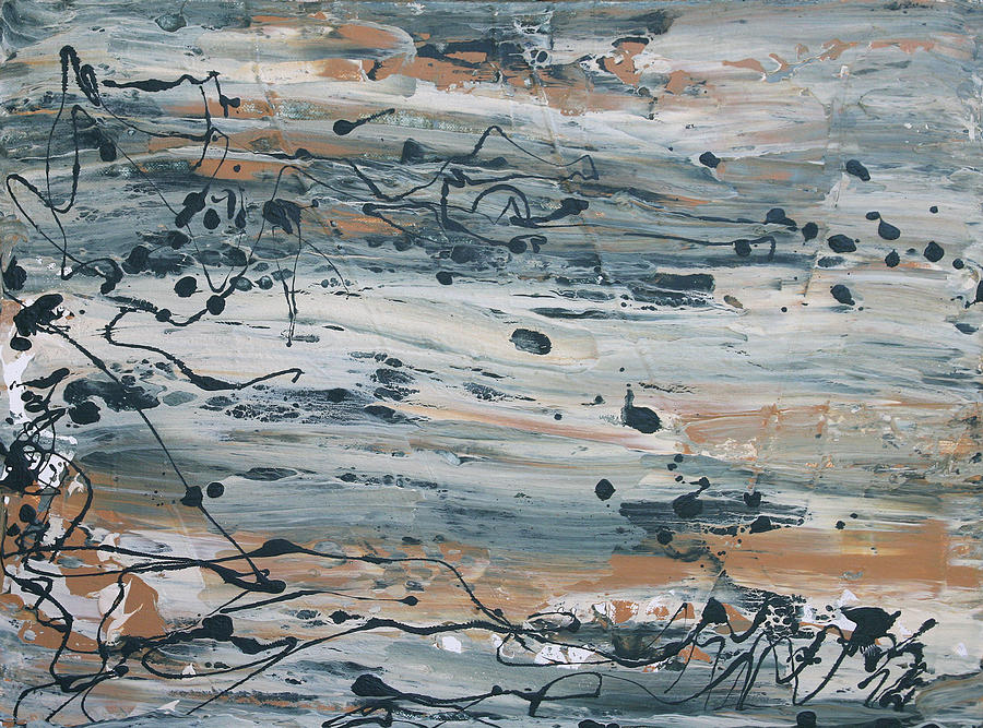 Abstract Seascape Painting - Irrational Exuberance by Maura Satchell
