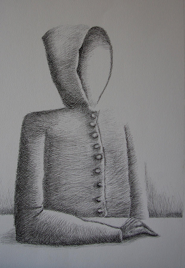Ego Drawing - Is Ego Just An Empty Shell by Tanni Koens