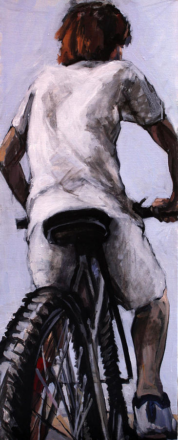 Boy Painting - Is It Time by Mima Stajkovic