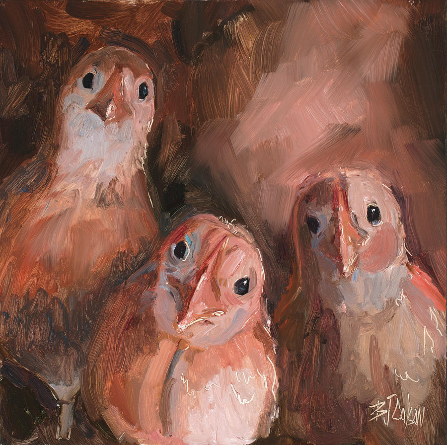 3894598da Baby Chicks Painting - Is That You Mom? by Billie Colson
