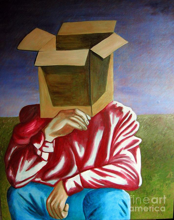 Is The Self Just An Empty Box Painting by Tanni Koens