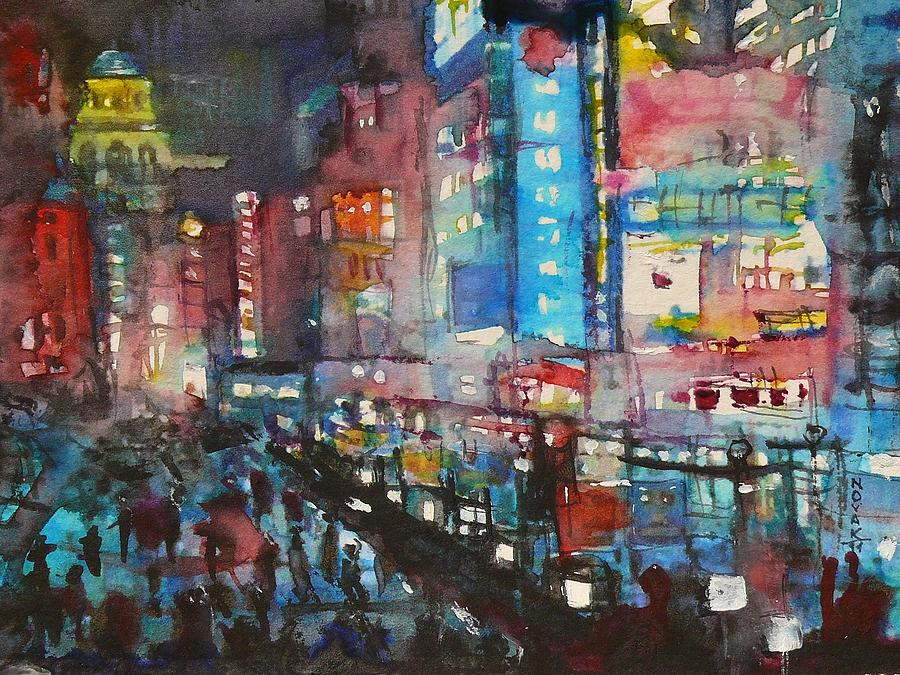 Cities Painting - Is There Anything Going On Tonight In Downtown by Dreja Novak