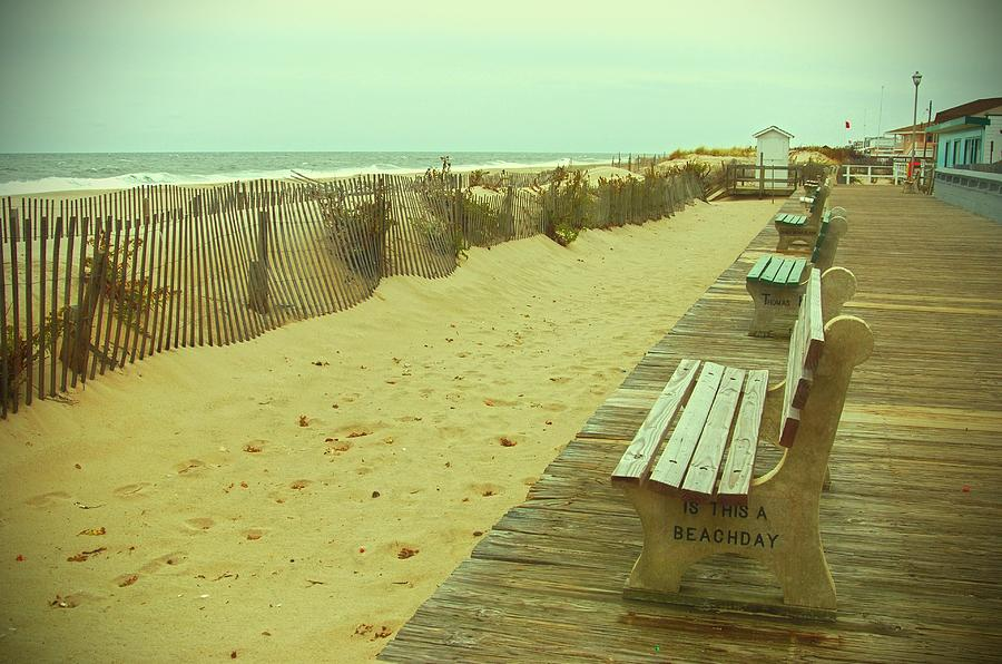 Is This A Beach Day - Jersey Shore by Angie Tirado
