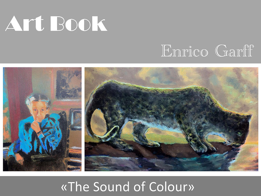 Portrait Painting - Isa and the leopard  by Enrico Garff