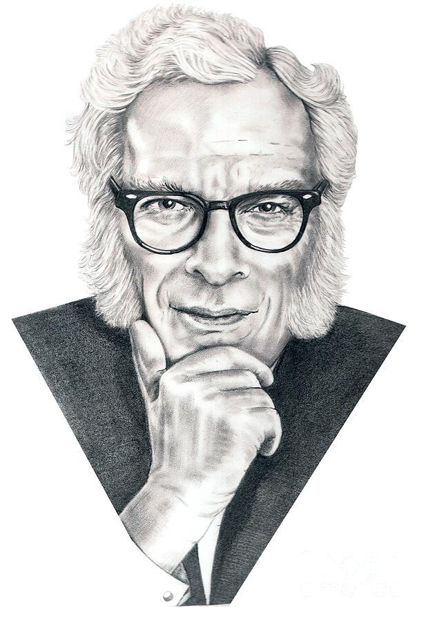 Portrait Drawing - Isaac Asimov by Murphy Elliott