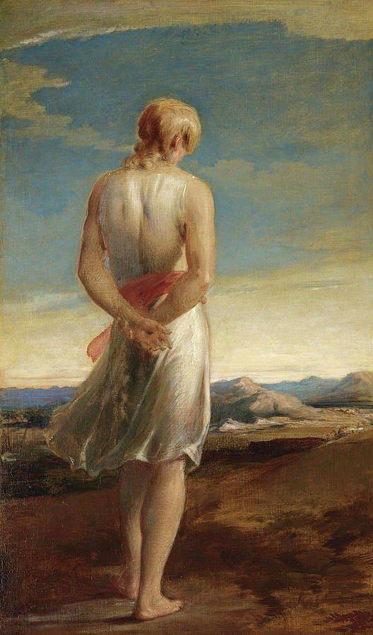 George Richmond Painting - Isaac Going Forth To Meditate by George Richmond