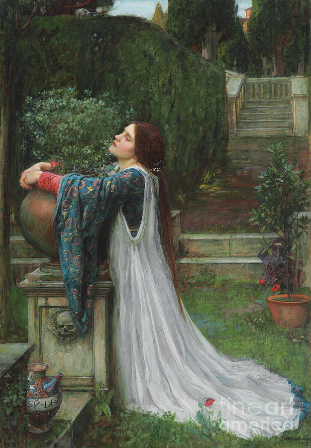 Waterhouse Painting - Isabella And The Pot Of Basil by John William Waterhouse