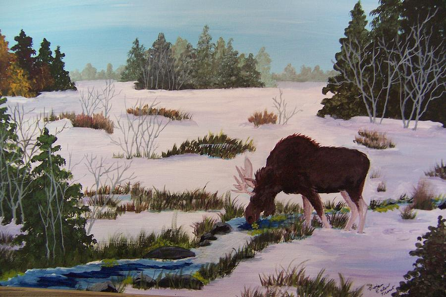 Wildlife Painting - Isabella Moose by Vivian Esler Trout