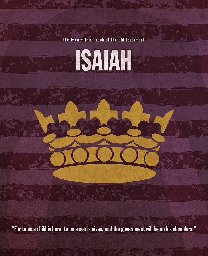 Isaiah Books Of The Bible Series Old Testament Minimal Poster Art Number 23  by Design Turnpike