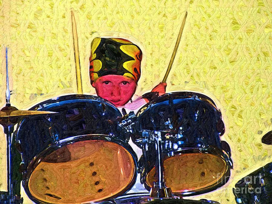 Drummer Painting - Isaiah The Drummer by Deborah MacQuarrie-Selib