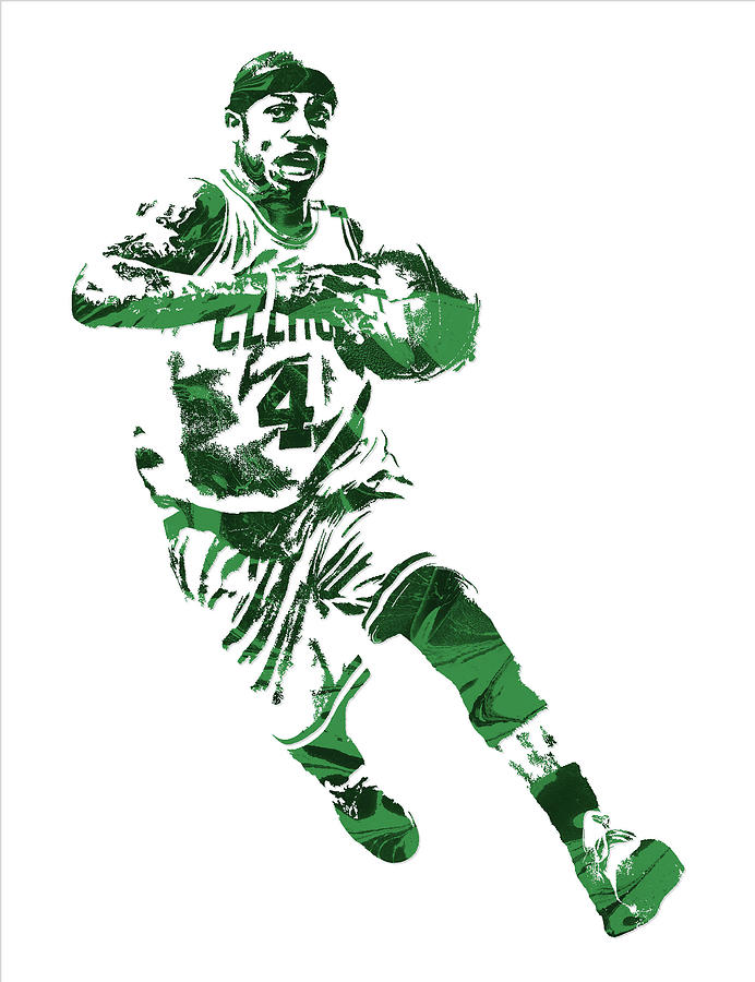 Isaiah Thomas Mixed Media - Isaiah Thomas Boston Celtics Pixel Art 5 by Joe Hamilton