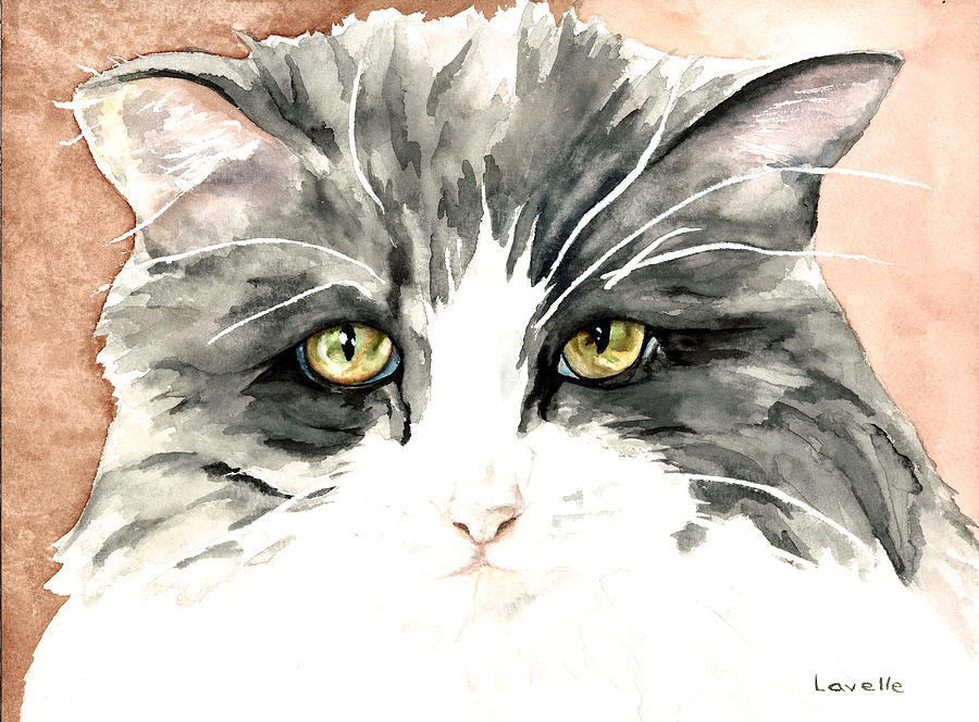 Cat Pictures Painting - Ish Da by Kimberly Lavelle