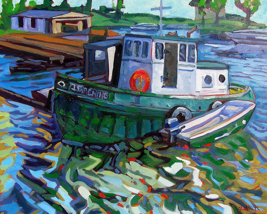 Ishpeming Painting - Ishpeming by Phil Chadwick
