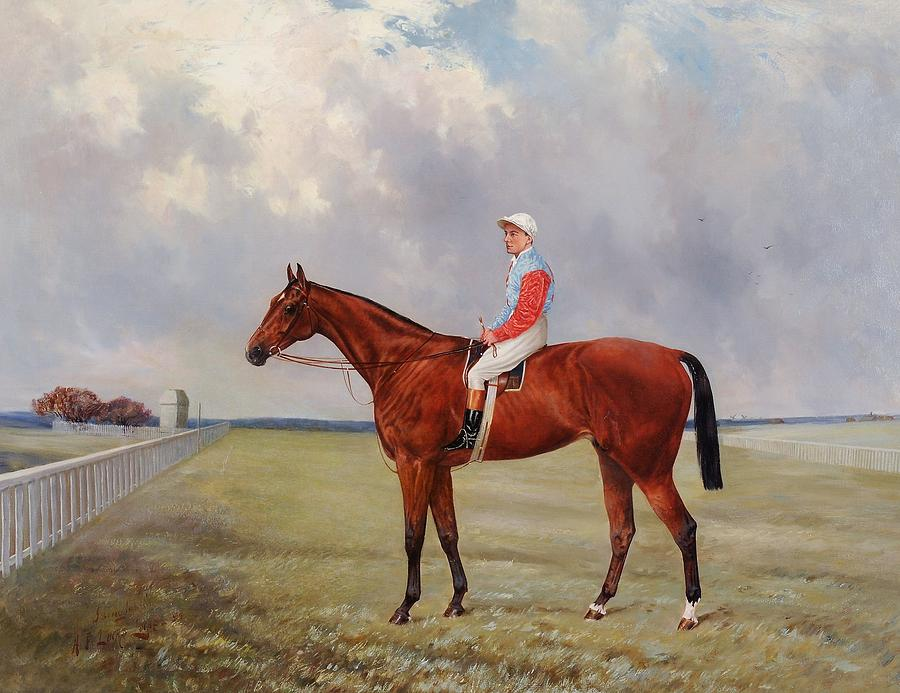 Brown Painting - Isinglass With Tommy Loates Up by Henry Frederick
