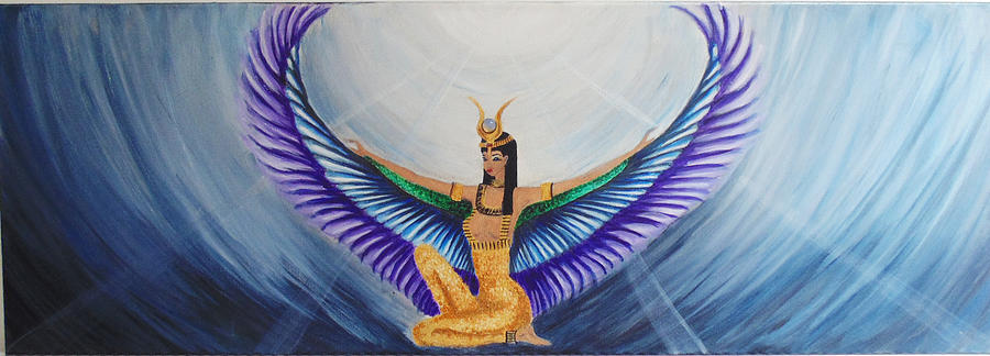 Angel Painting - Isis Wings by Alina Andronache