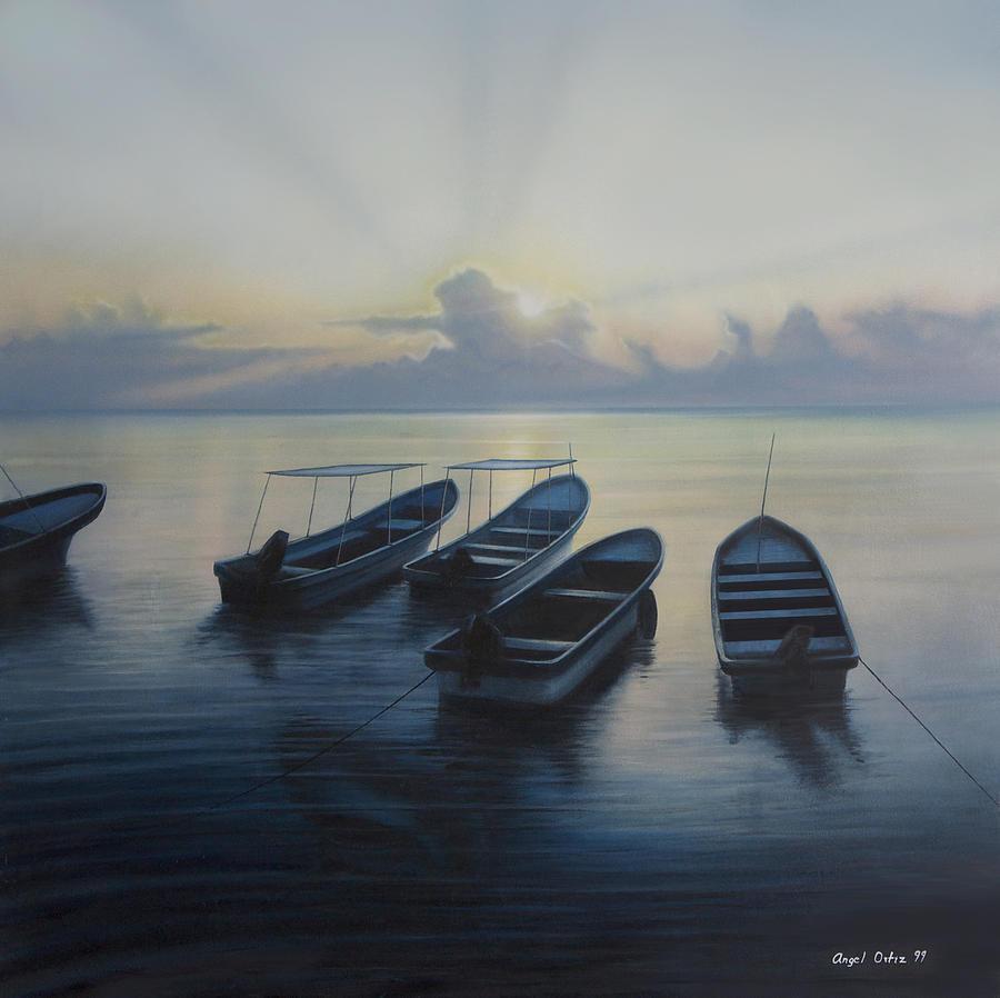 Ocean Painting - Isla Mujeres by Angel Ortiz