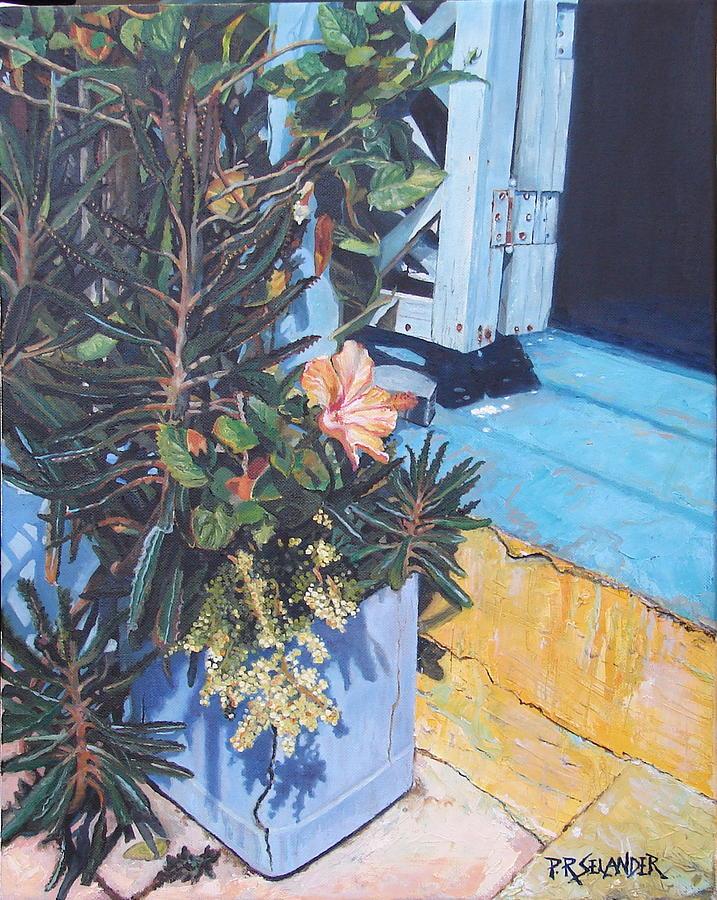 Island Painting - Isla Mujeres Doorstep by Peggy Selander