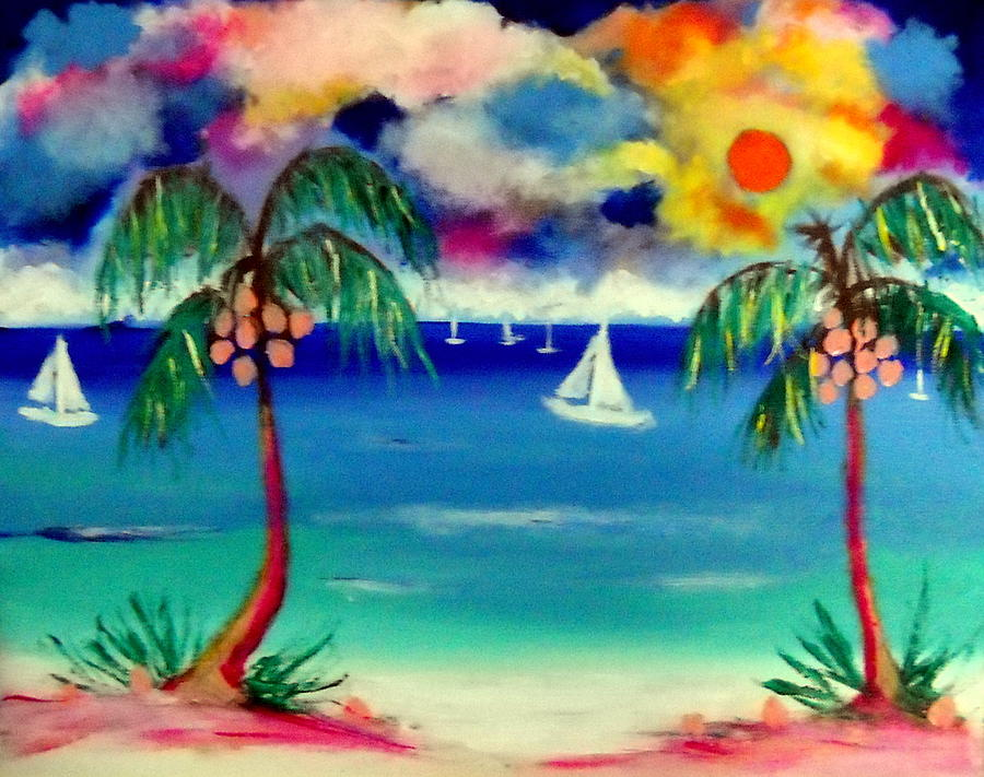 Isla Mujeres On My Mind Painting by Ted Hebbler