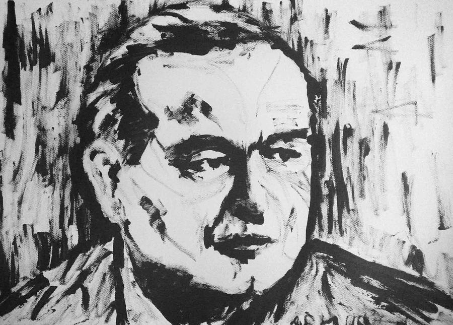Islam Karimov - Uzbekistan Painting by Alireza Mobtaker