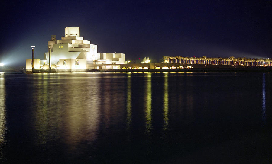 Qatar Photograph - Islamic Museum At Night by Paul Cowan