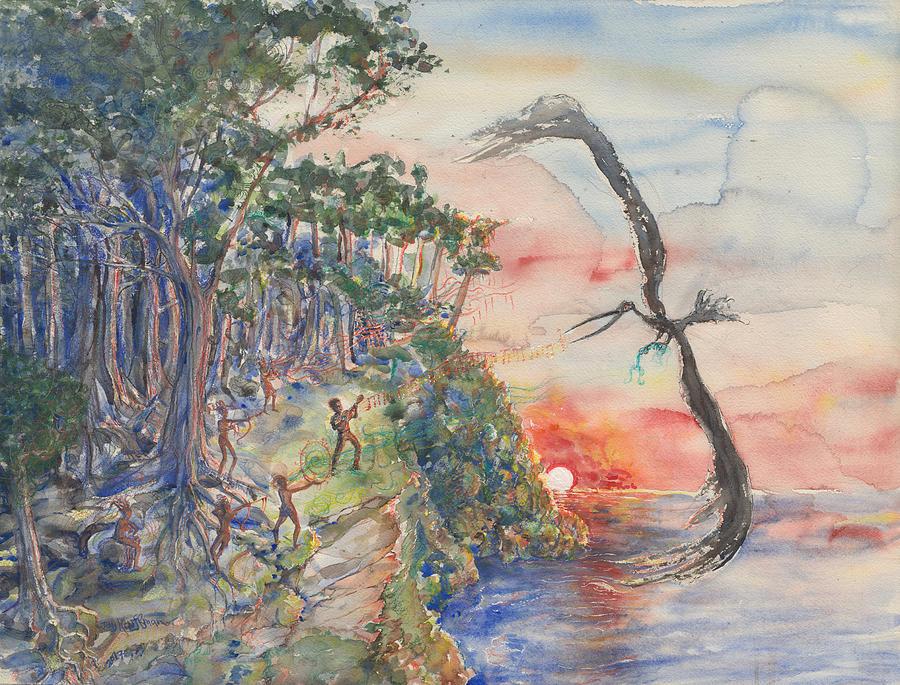 Illustration Painting - Island 7 by Jay Kauffman