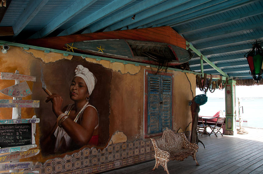 Scenic Photograph - Island Bar And Grill by Joe Teceno
